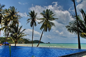 The pool at Koh Mak Resort