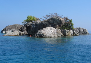and one of the surrounding islands