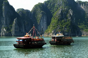 Junks in Halong