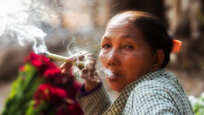 Flower vendor near Mandalay