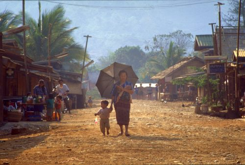Thailand and Laos tour, village scene