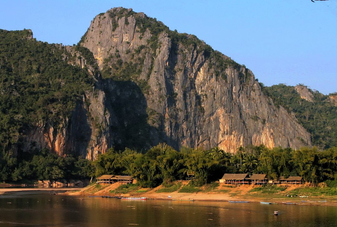 Laos, confluence of the Mekong and Ou