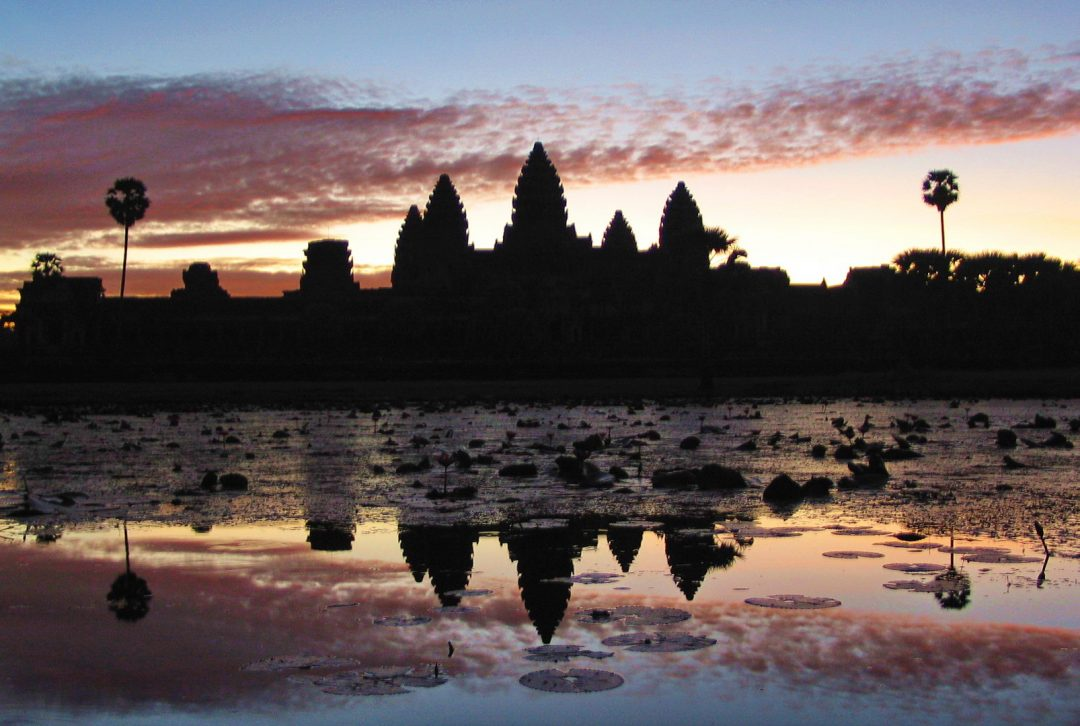 Cambodia, dawn at Angkor Wat