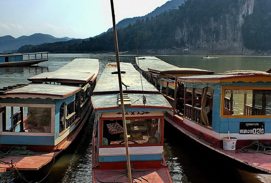 Laos, Luang Prabang boats