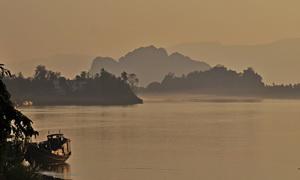 South Burma Myanmar tour, sunset at Hpa-an