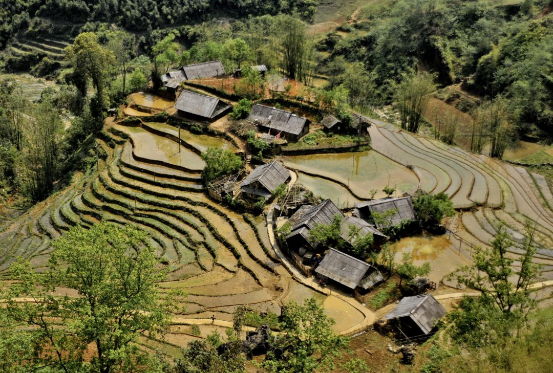 Vietnam, hill-tribe village