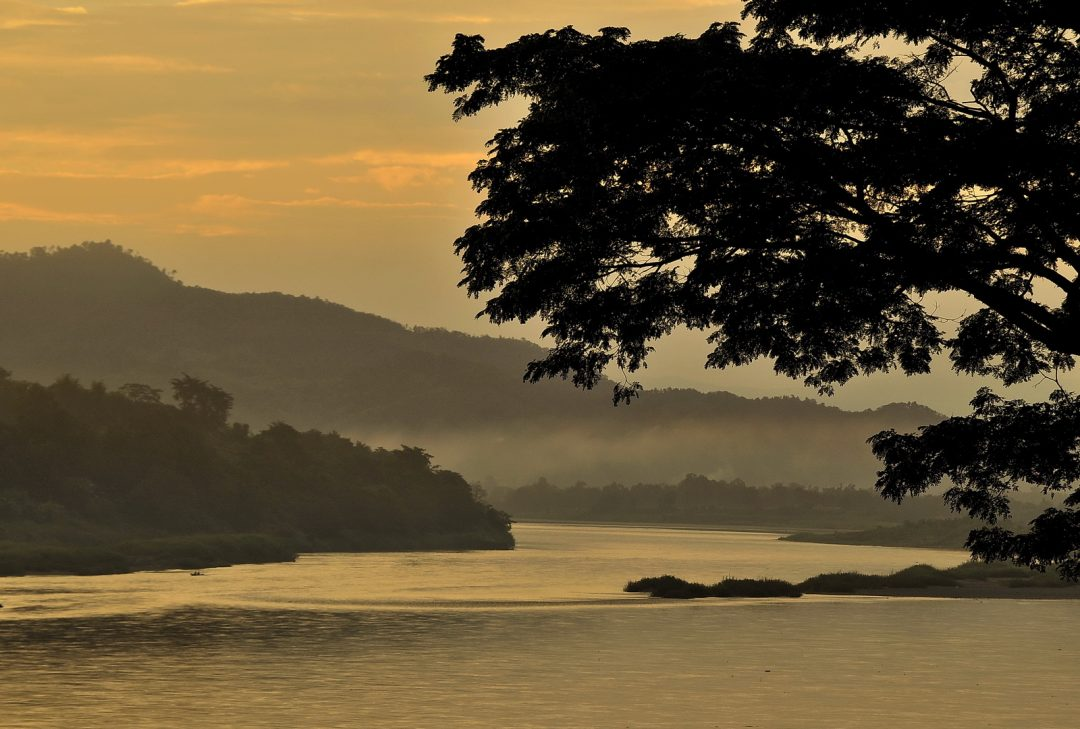 Thailand, dawn at Chiang Khong