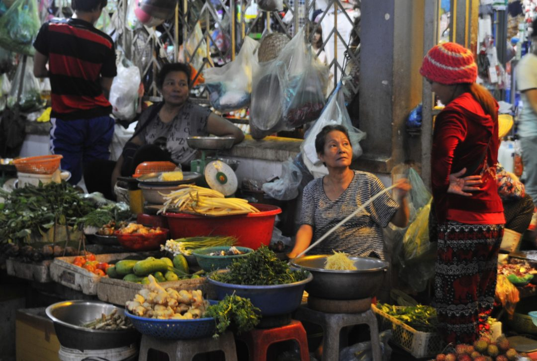 Cambodia, local market in Phnom Penh