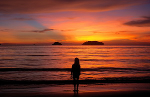 Cambodia and Thailand family tour Koh Chang sunset