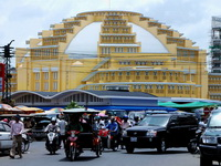 The iconic Central Market, Phnom Penh