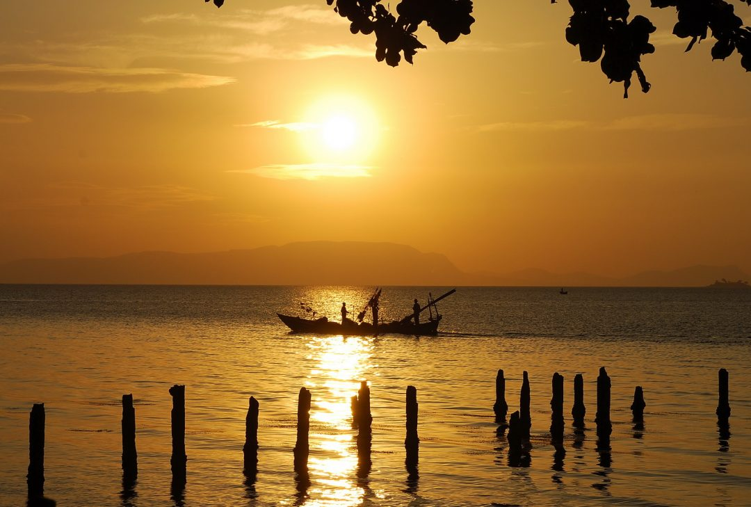 Cambodia, Beyond Angkor, Kep sunset
