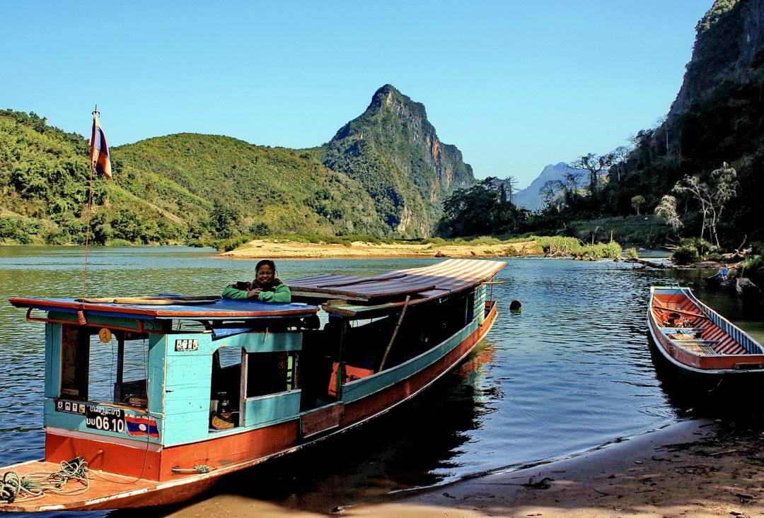 Laos, boat on the Nam Ou