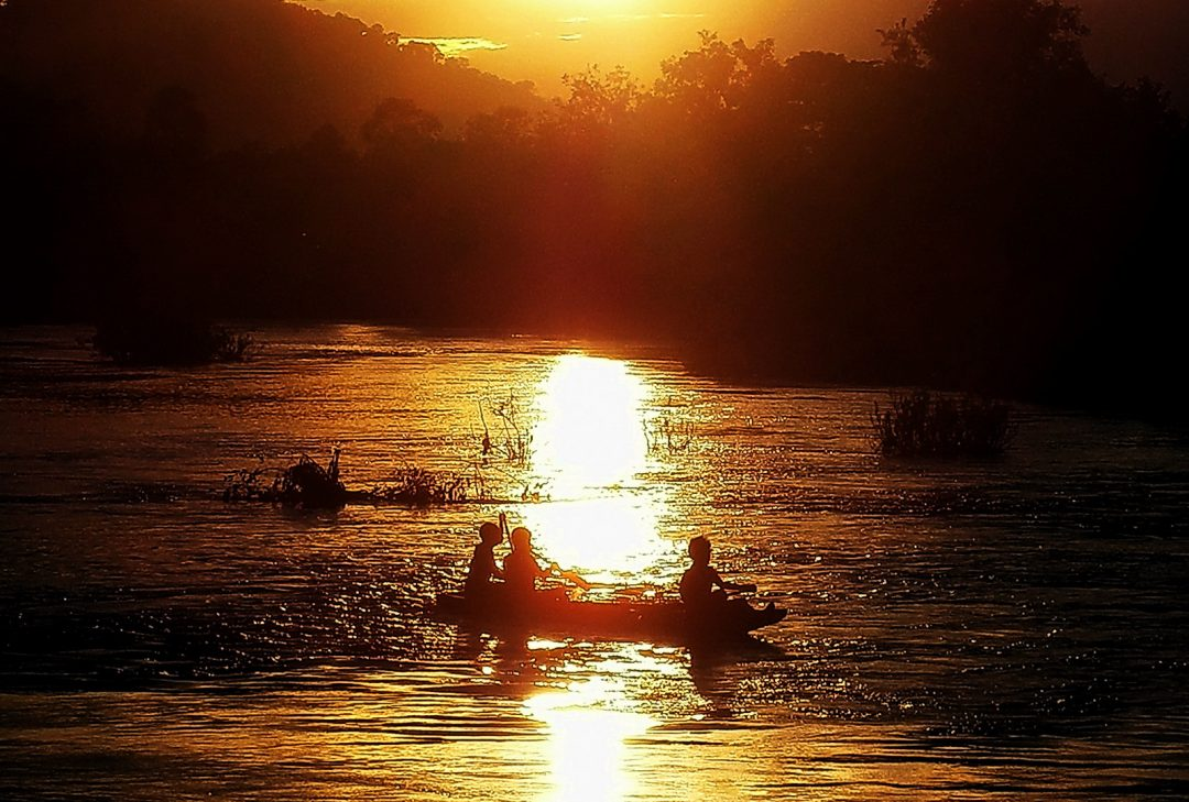 Laos, 4,000 Islands sunset