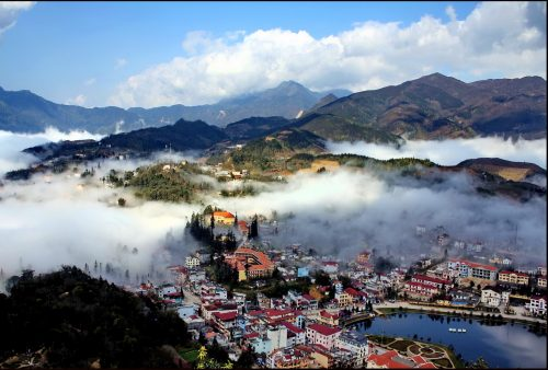 Vietnam, Sapa in the mist
