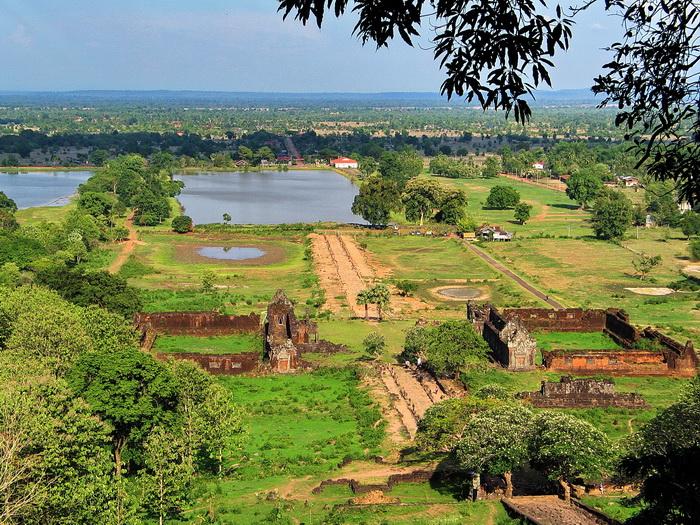 Wat Phu and surrounding area