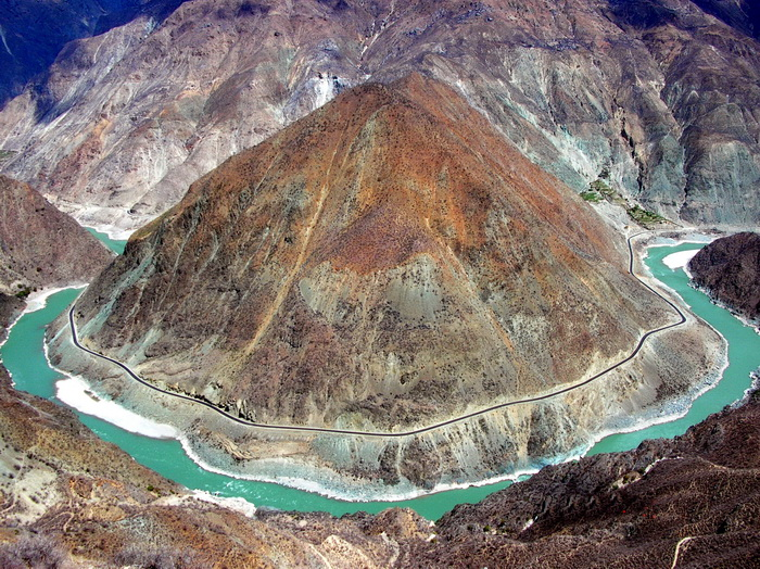 Yunnan UNESCO. The famous 'First Bend of the Yangtze' viewpoint