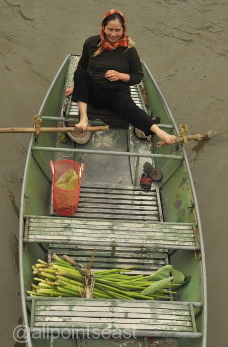 Interesting rowing technique - Tam Coc again
