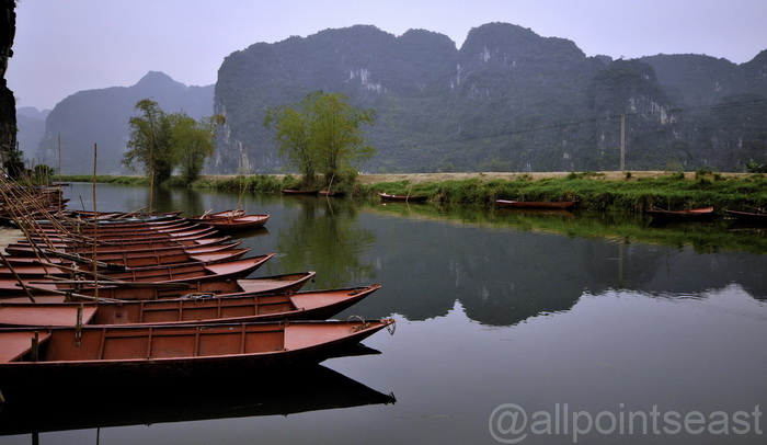 Ninh Binh. Another landscape shot where we spent ages trying to make the sky blue!