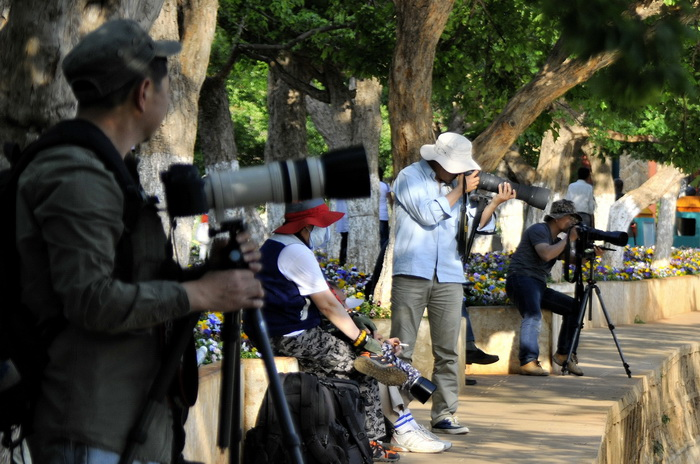 Green Lake Park Kunming. A lot of very expensive gear!
