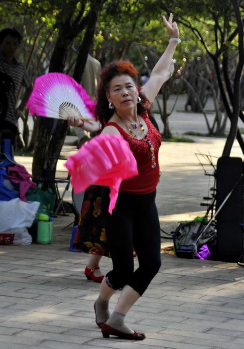 Fan dancers!?
