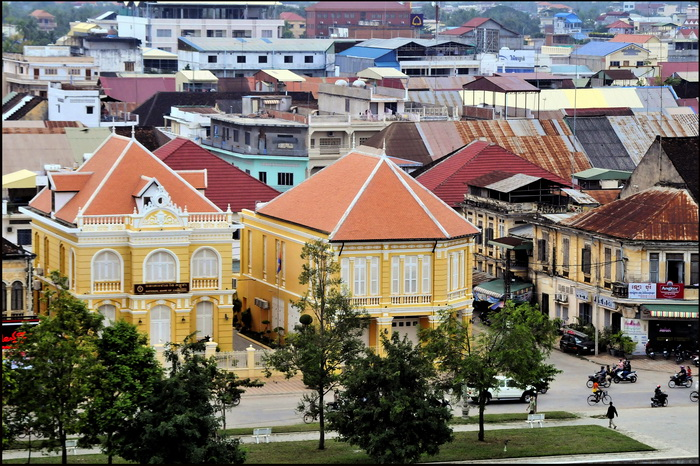 French colonial buildings on the riverfront
