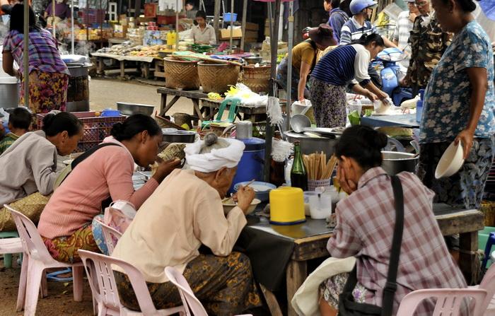 The market - liveliest spot in town