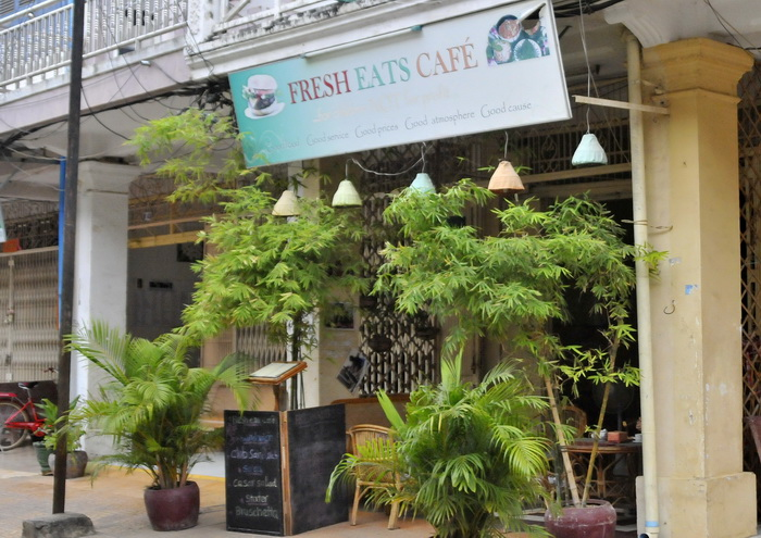 One of the cafes in Battambang's up and coming 2 and a half street!