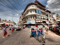 Rickshaws are still a common site in Phnom Penh