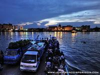 Evening ferry across the Tonle Sap