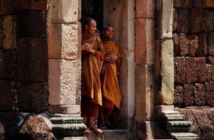 Monks at Phnom Rung