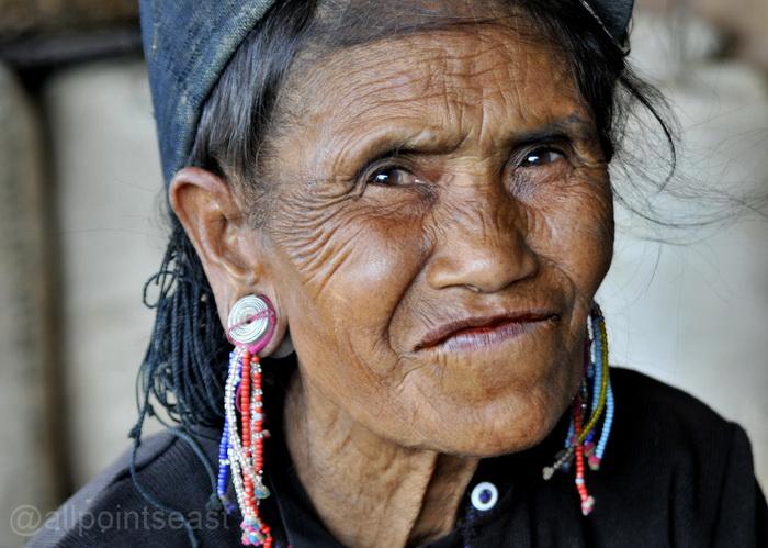 Enn woman in a nearby village