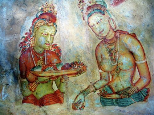 The 'Maidens of the Clouds', Sigiriya, Sri Lanka