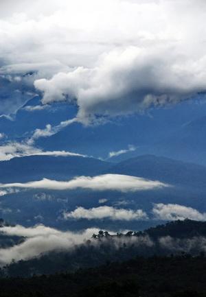 Misty morning Mt Kinabalu