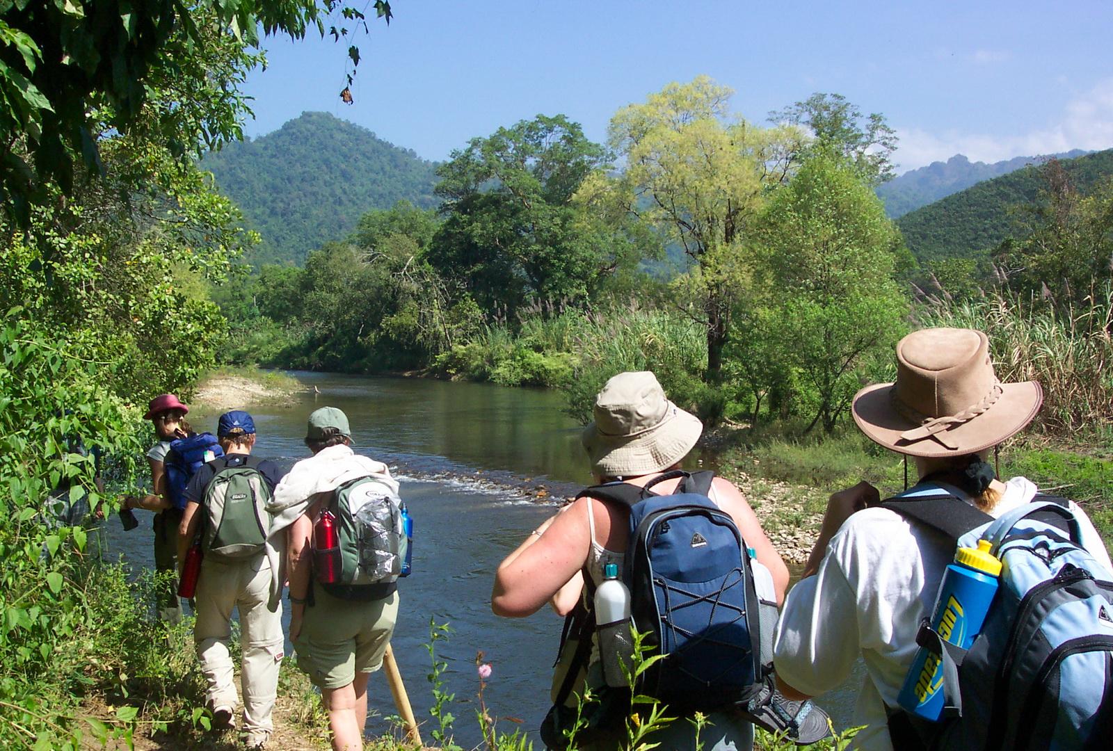 North Thailand Family Tour, a trek through the National Park