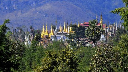 In Dein, stunning scenery and ancient pagodas in Burma
