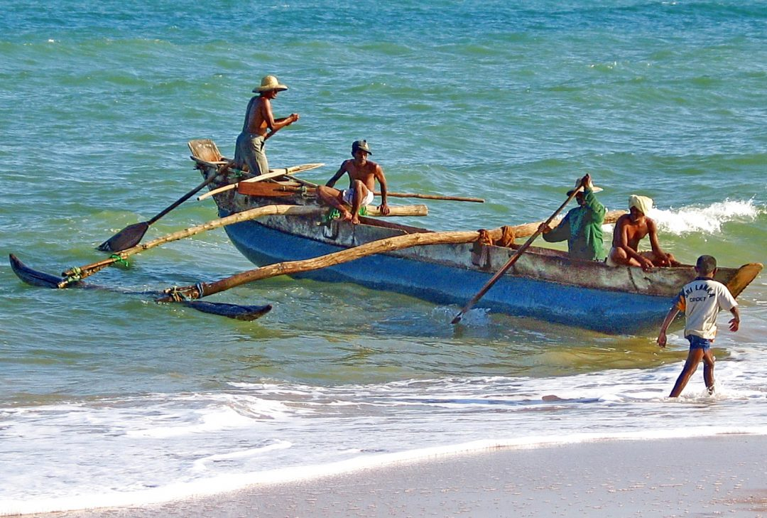 Sri Lanka, fishing boat