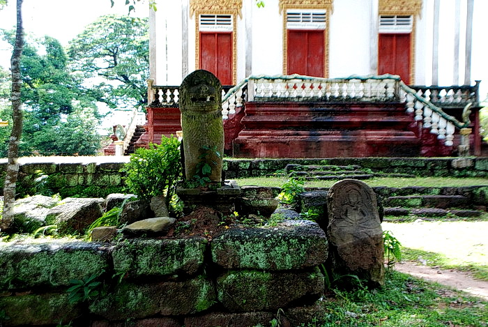 Possible Jayarvarman VII period laterite foundations at nearby Wat Mohar