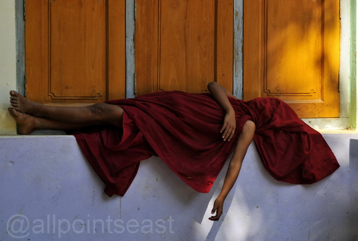 Sleeping monk at Inva