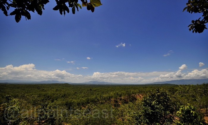Mae Wang, looking south towards Doi Inthanon - Thailand's highest peak.