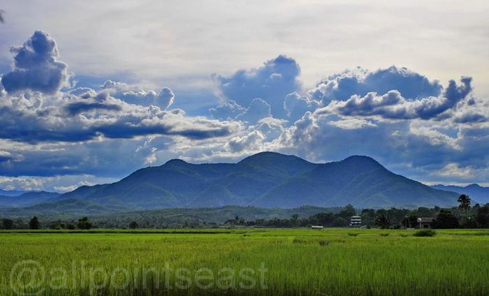 Rainy season landscape in Doi Lo near Mae Wang