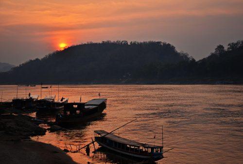 Sunset over the Mekong, Luang Prabang