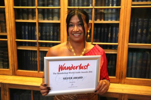 Silver medal at the Wanderlust World Guides Award
