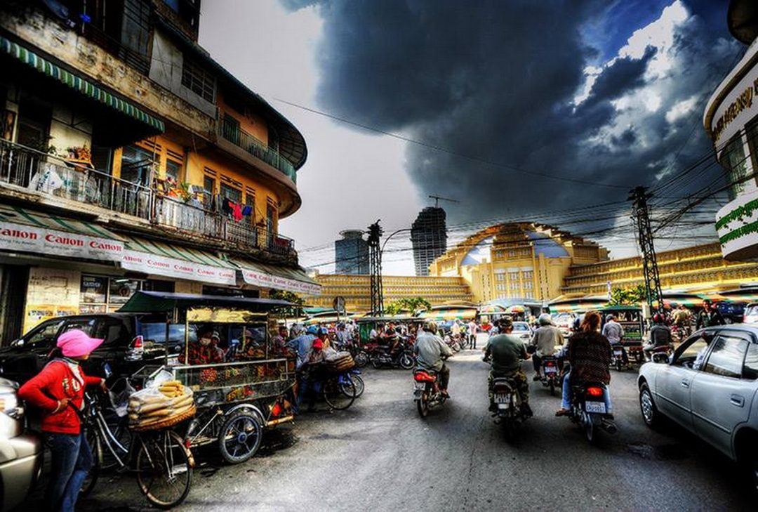 Cambodia, New Market by Jeff Perigois