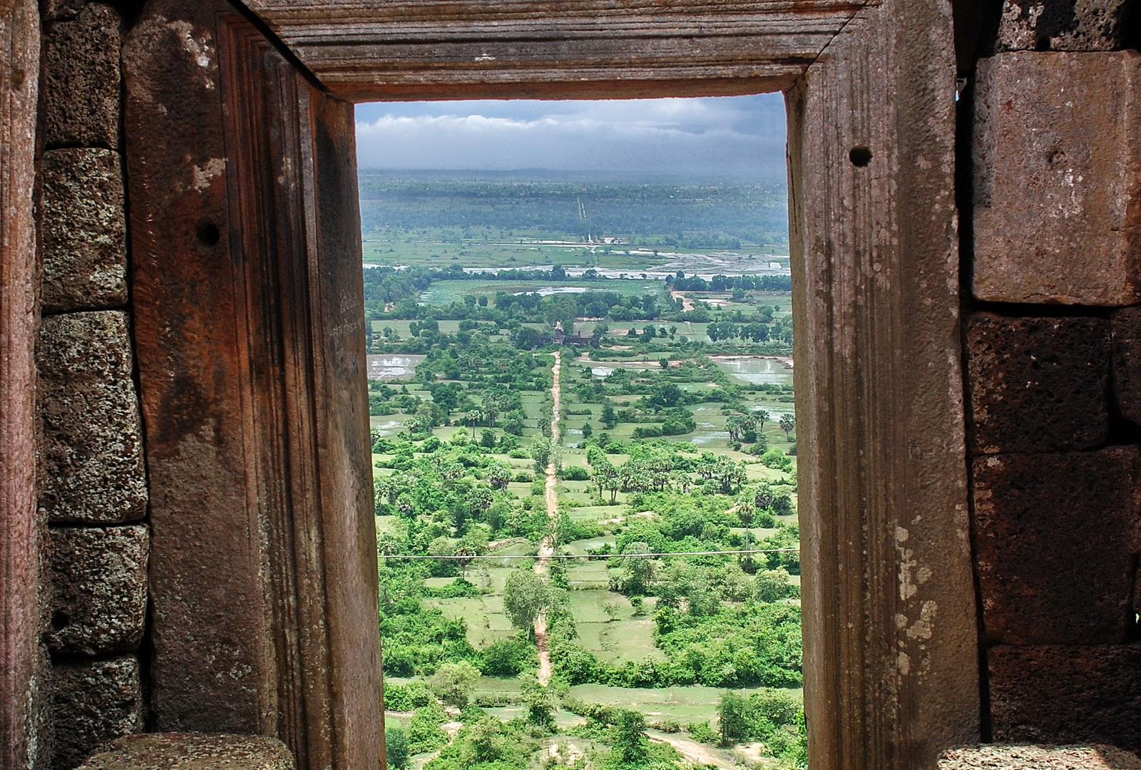 Cambodia, Phnom Chisor view