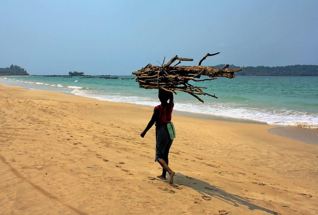 Burma, Ngapali firewood collector