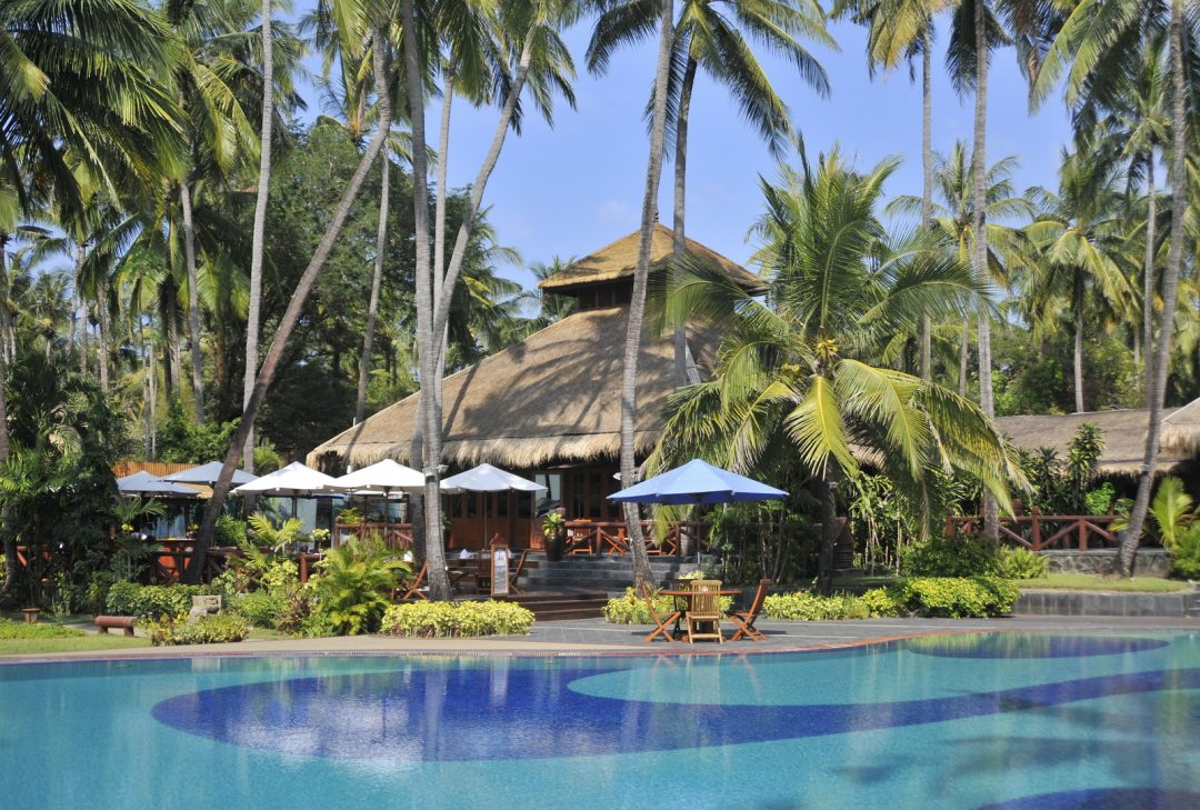 Burma (Myanmar) our resort at Ngwe Saung