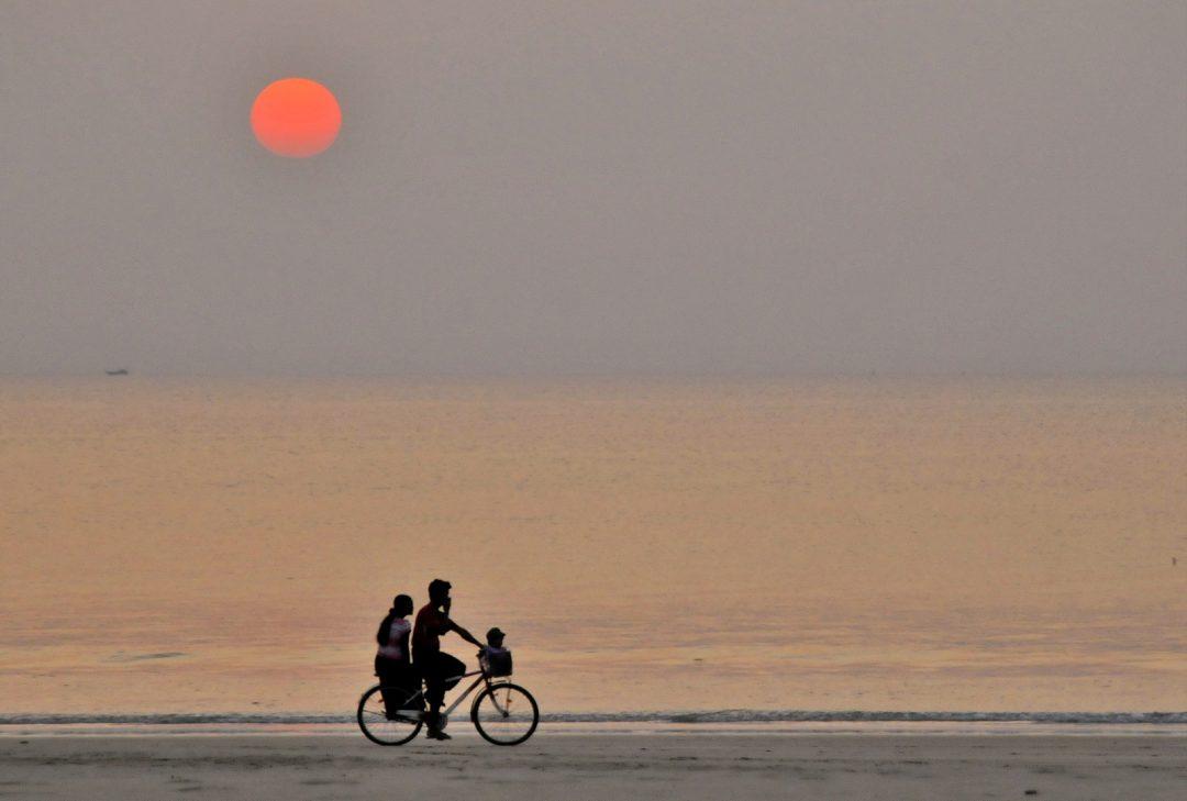 Burma, Ngwe Saung sunset