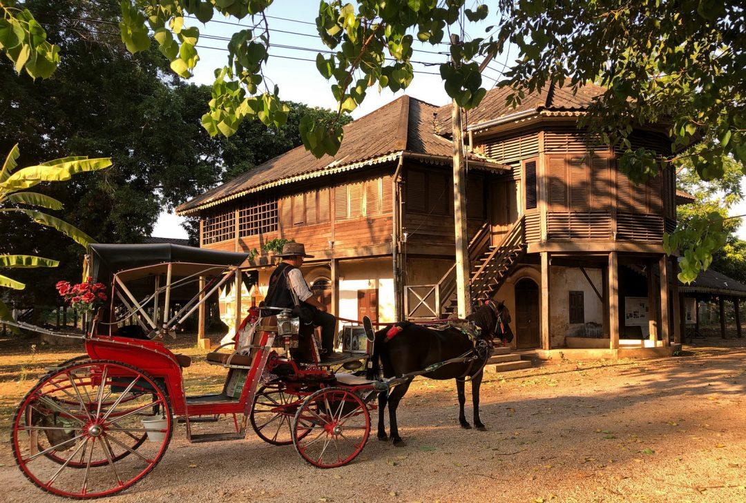 Thailand, Lampang, teak mansion