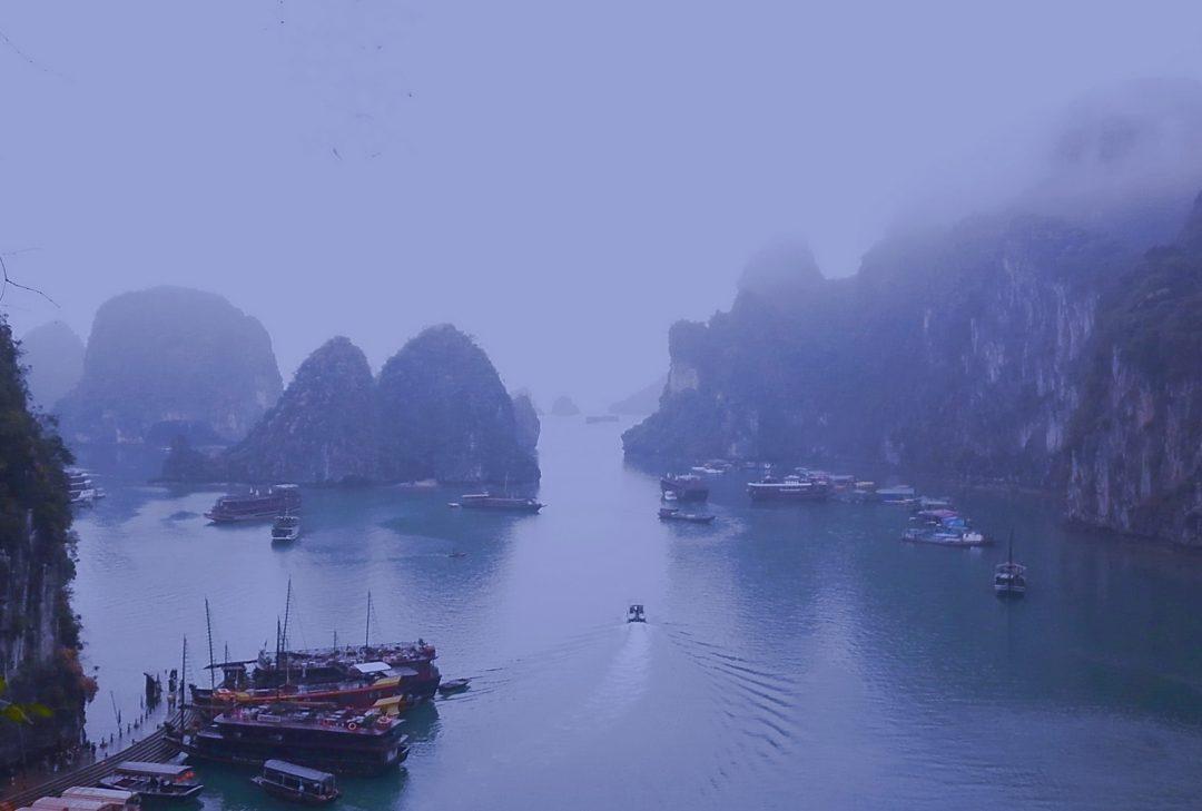 Vietnam, misty Halong Bay