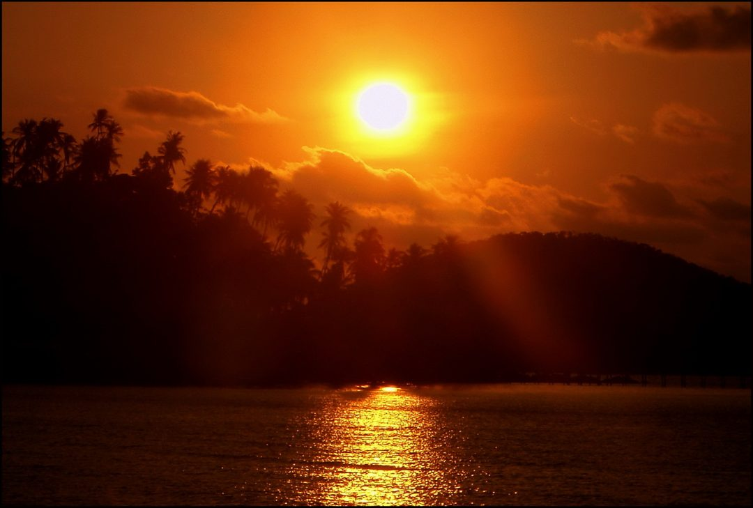 Thailand, Koh Mak sunset